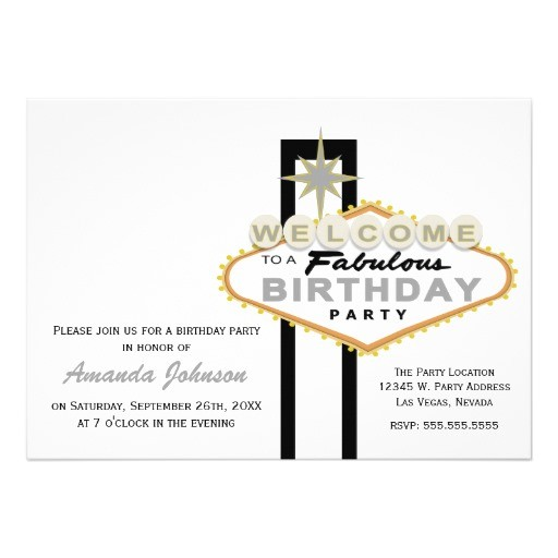 las vegas sign birthday party invitation 161511792574301905