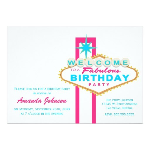 las vegas sign birthday party invitation 161313351113354059