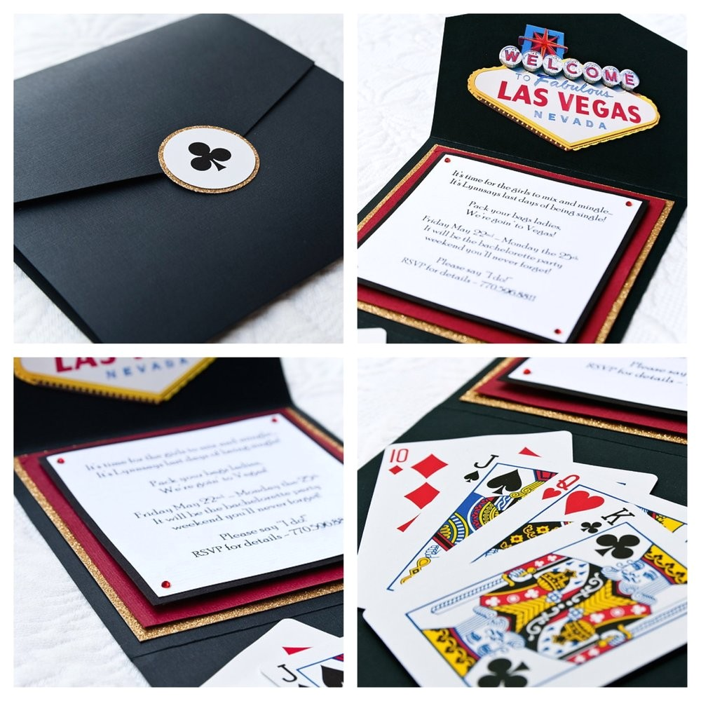 las vegas theme invitations