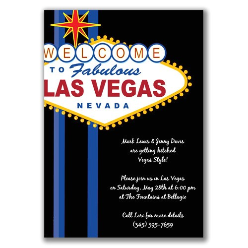 vegas party invitations