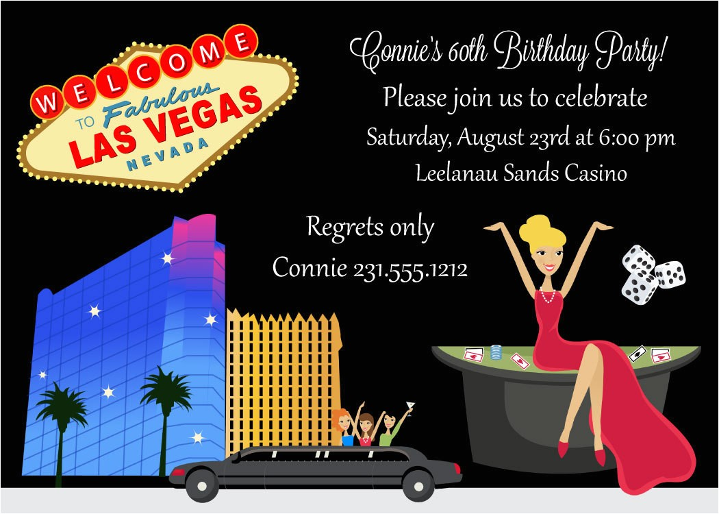 birthday invitation adult birthday party printable las vegas theme