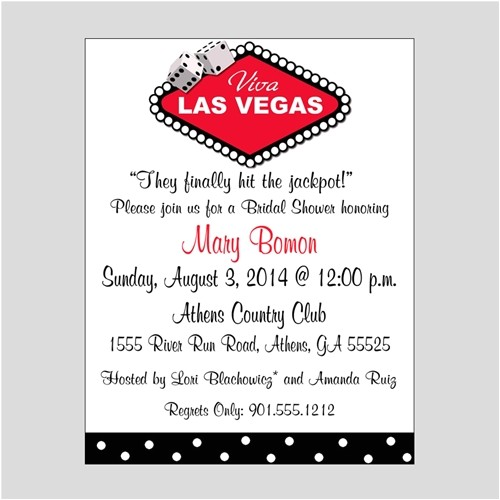 bridal shower invitations las vegas