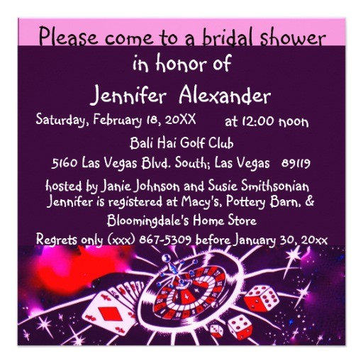 las vegas casino theme bridal shower invitation 161195887193672046
