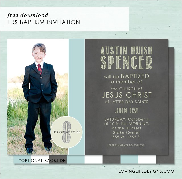 lds baptism invitation free