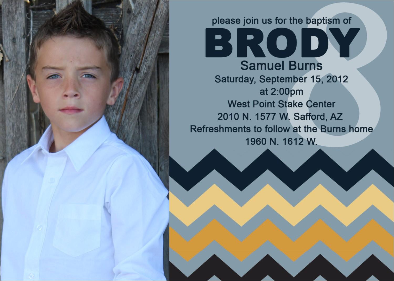 Lds Boy Baptism Invitations Adorable Chevron Lds Boy Baptism Invitation by Jisforjordy