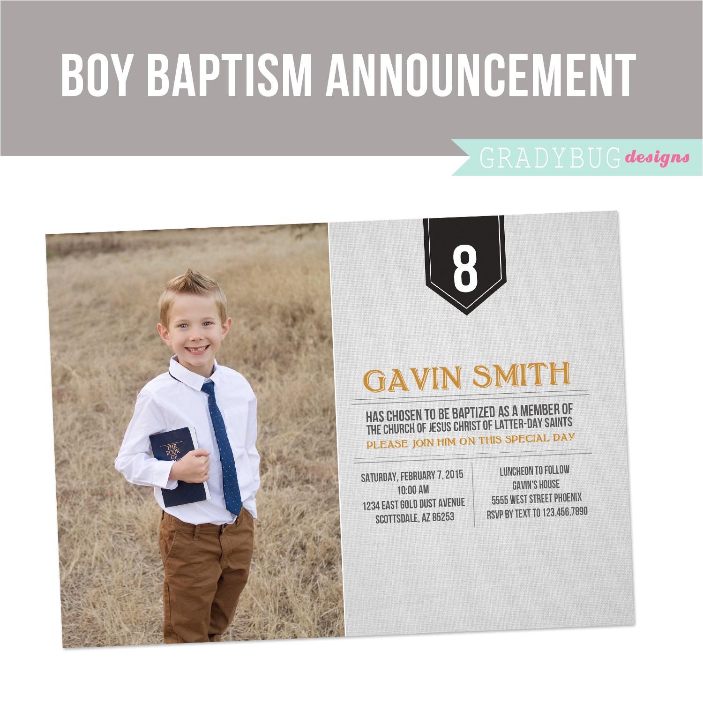 lds baptism invitation boys baptism
