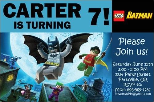 Lego Batman Party Invitations Free Printable Batman Birthday Invitations Printable
