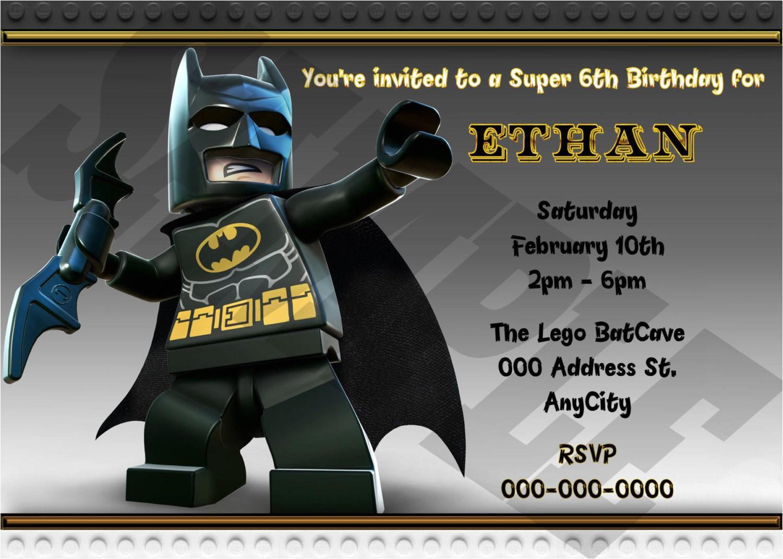 Lego Batman Party Invitations Free Printable Lego Batman Birthday Invitation Printable Lego Batman Invite