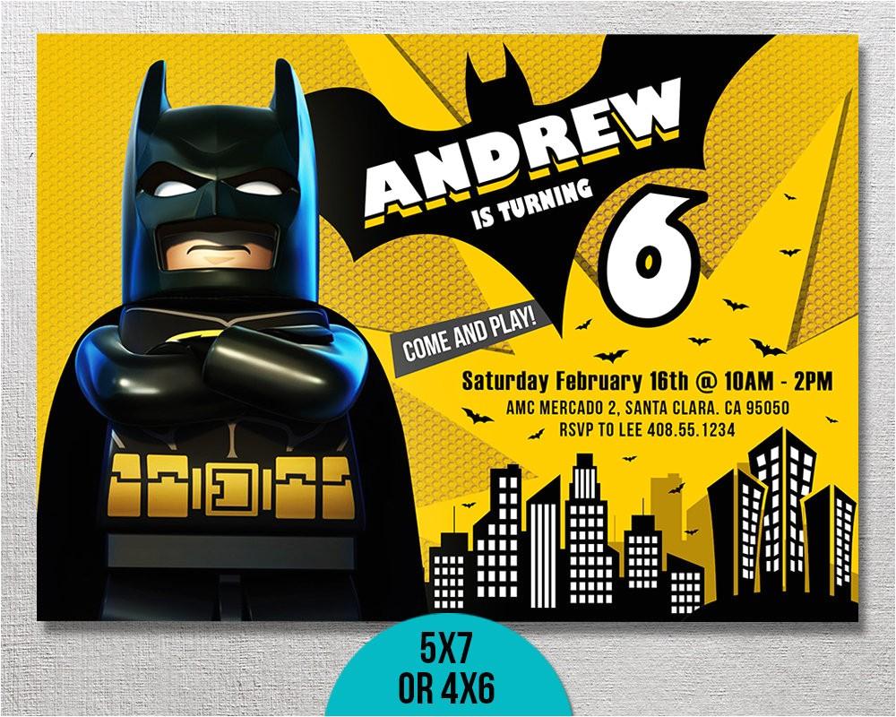lego batman invitation lego batman