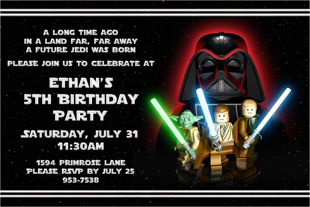 Lego Star Wars Birthday Invitation Template Free Printable Star Wars Lego Birthday Invitations