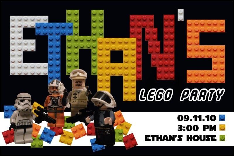 star wars lego birthday invitations