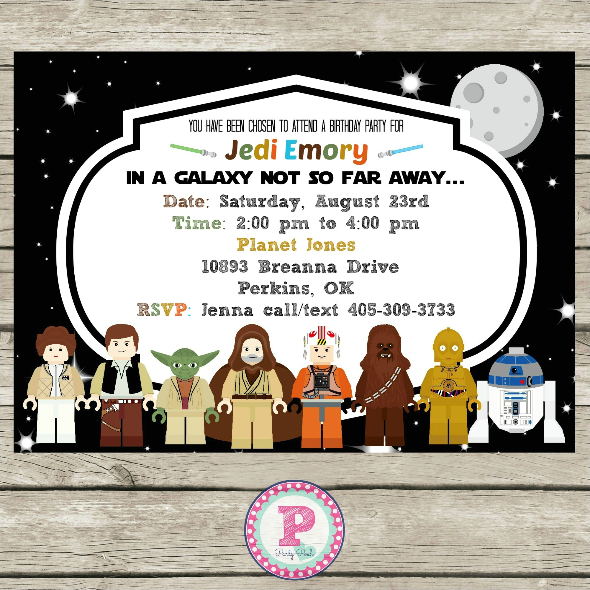 star wars lego birthday party ideas invitations photo props printables