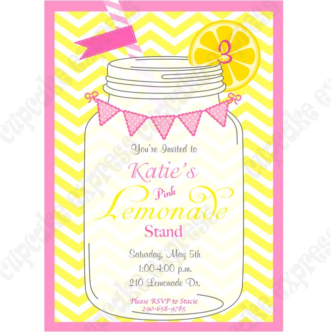 pink Lemonade Printable Invitation 1 DIY