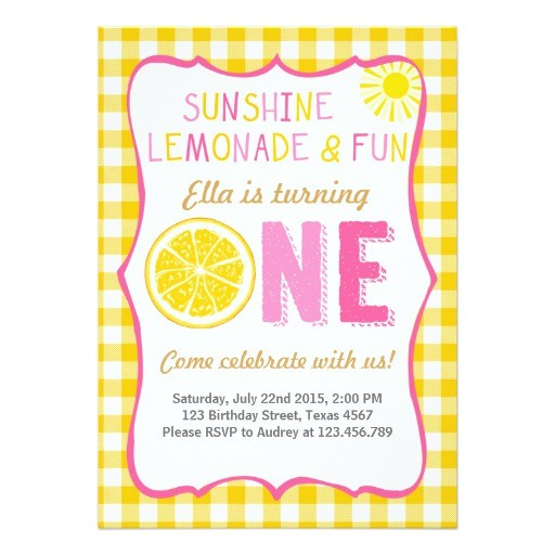 sunshine and lemonade sunshine birthday invitation