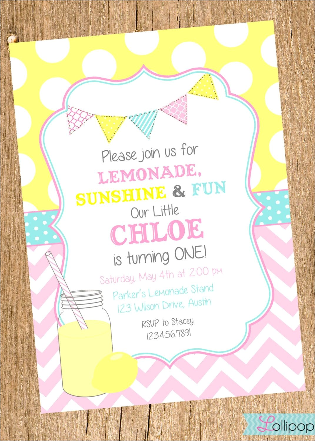 Lemonade Birthday Party Invitations Vintage Lemonade Printable Birthday Invitation Vintage