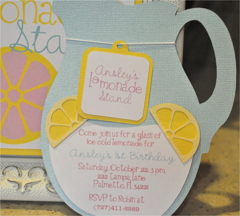 lemonade party invitation lemonade stand