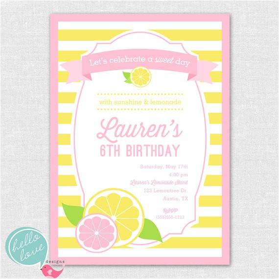 lemonade stand party printable birthday