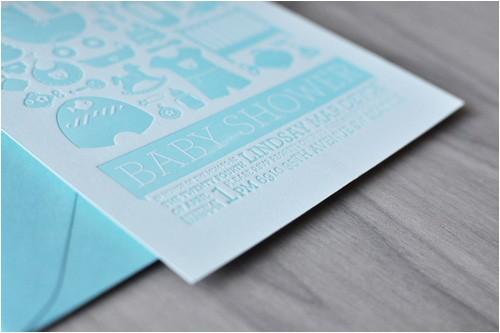 letterpress baby shower invitations
