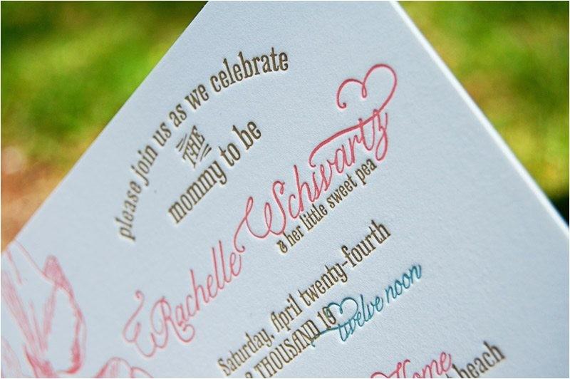 wiley valentine letterpress baby shower invitations