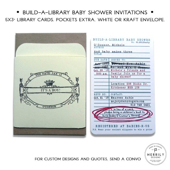library card invitations build a library