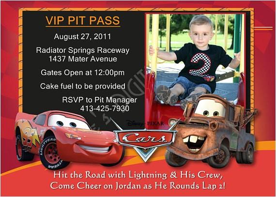cars birthday invitations lightning