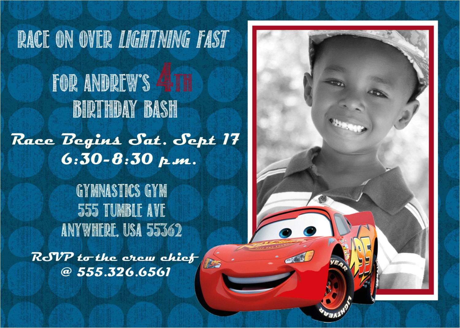 disney cars 2 lightning mcqueen birthday