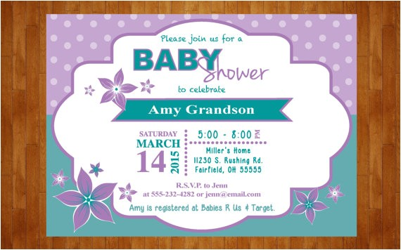 spring baby shower invitation lilies