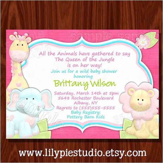 jungle baby shower invitation printable digital 2