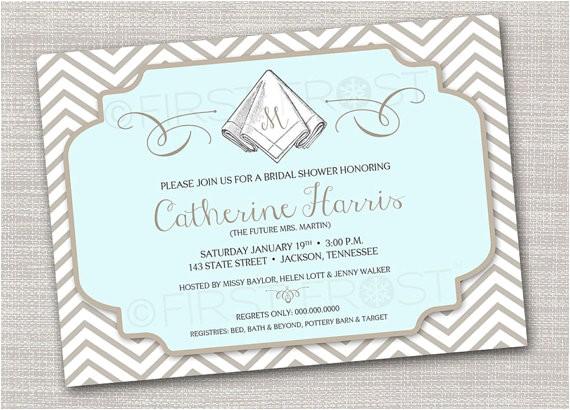 monogram printable card wedding bridal shower