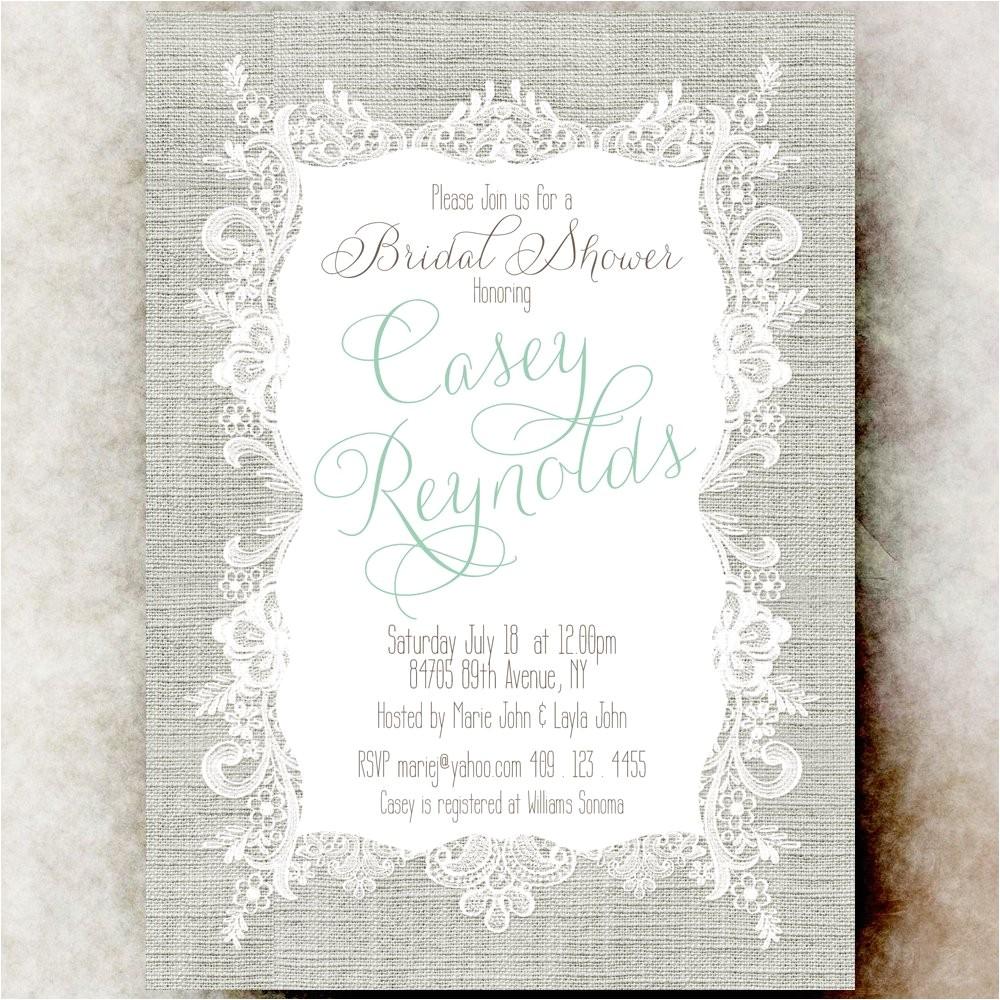 printable bridal shower invitation linen bridal shower invitation country chic bridal shower invitation