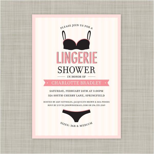lingerie shower invitations wedding