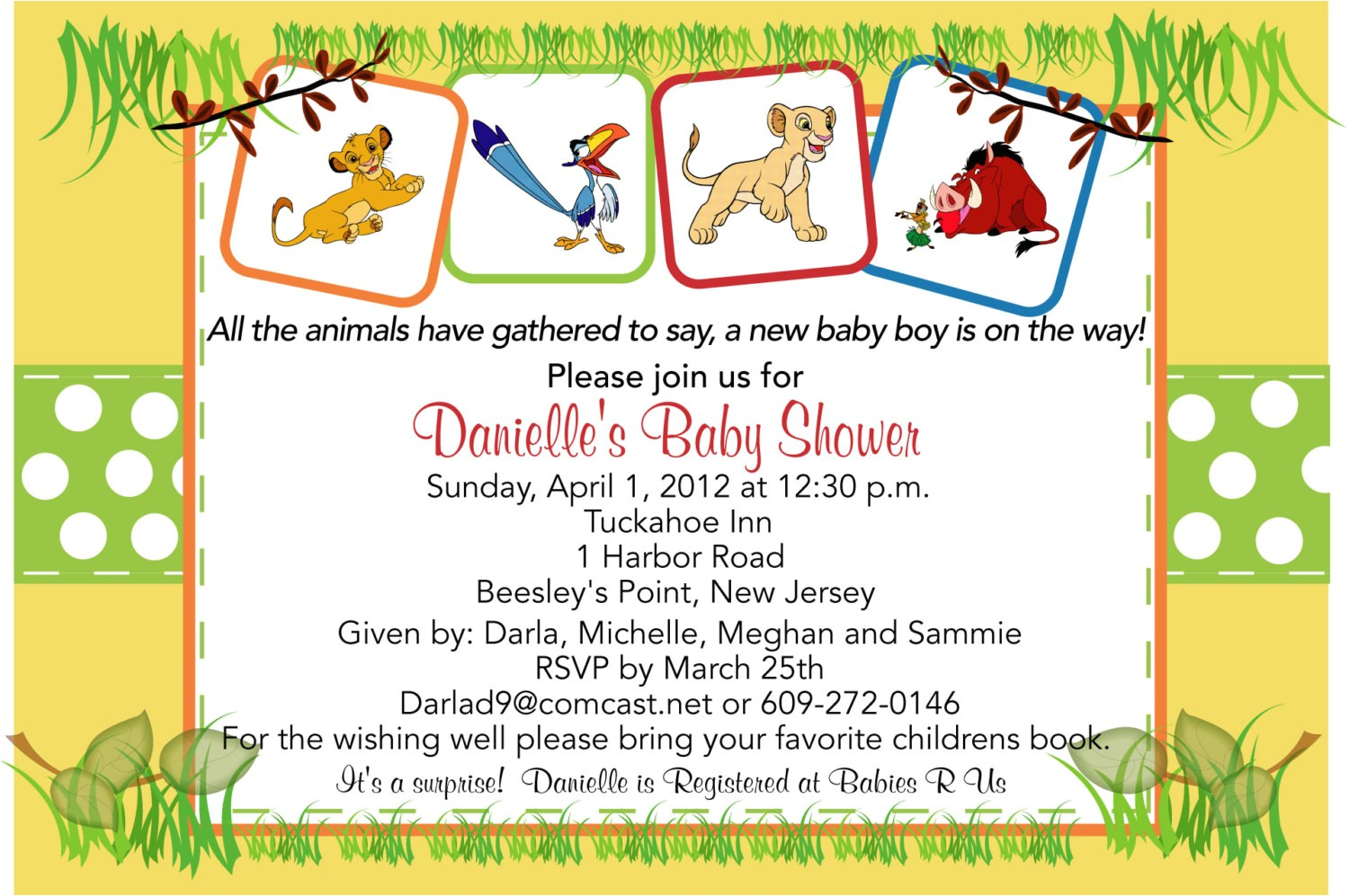 lion king baby shower invitations ideas