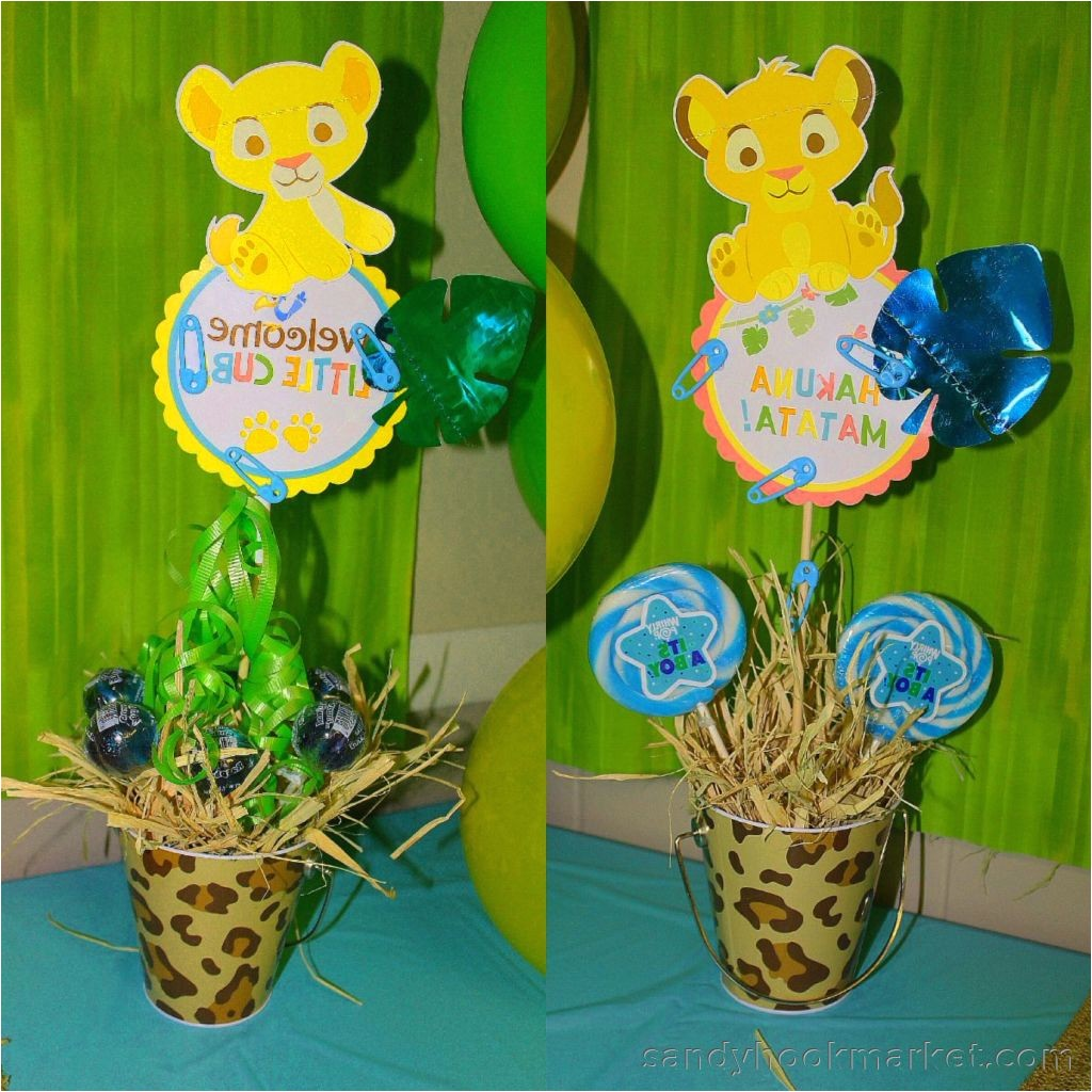 party city lion king baby shower
