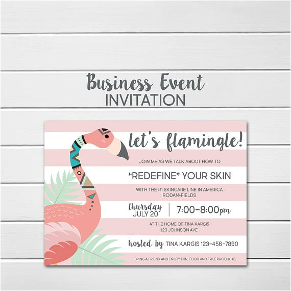 rodan fields invitation custom party invite 2