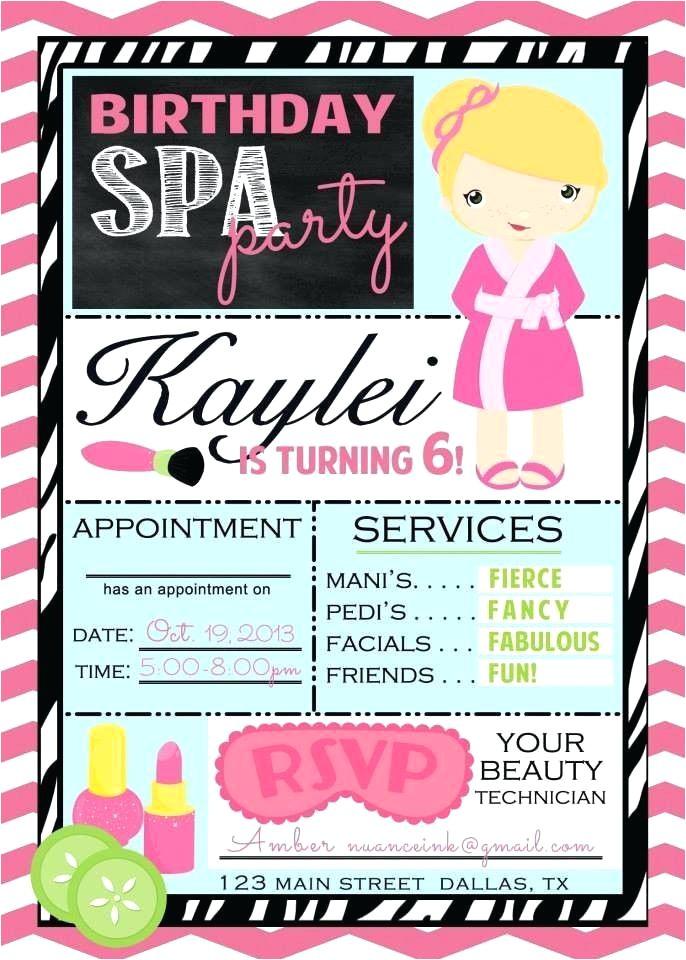 spa party invitations spa party invitations spa party invitations