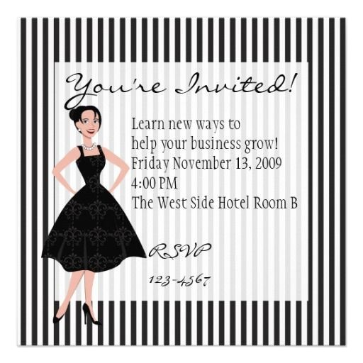 little black dress bachelorette party invitations