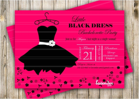 Little Black Dress Bachelorette Party Invites Bachelorette Party Invite Little Black Dress Bridal Shower