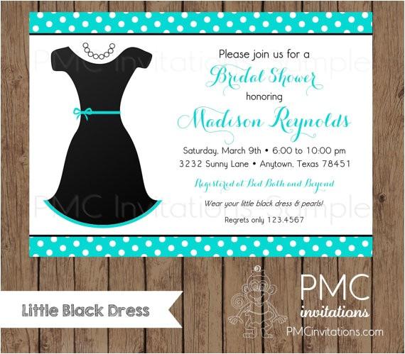 custom printed little black dress bridal