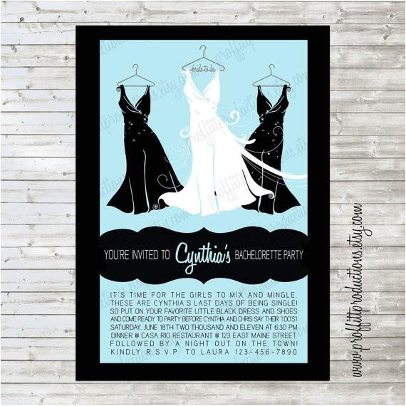 Little Black Dress Bridal Shower Invitations Little Black Dress Custom Bridal Shower by Proffittproductions