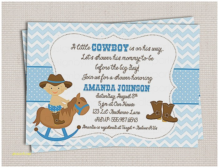 western baby boy shower invitations
