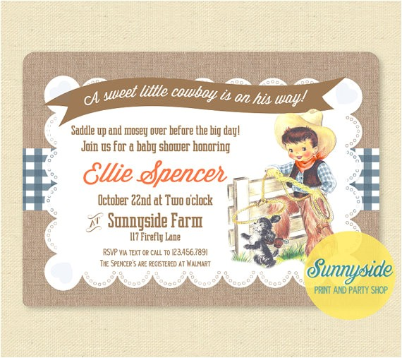 sweet vintage cowboy baby shower birthday