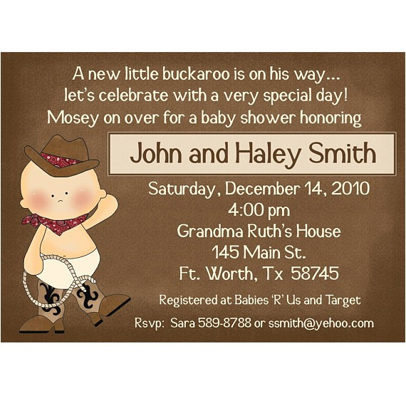 Little Buckaroo Baby Shower Invitations Lil Buckaroo Baby Shower Invitations New Deluxe Line with