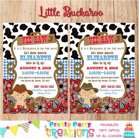 baby cowboy invitation first birthday baby 2