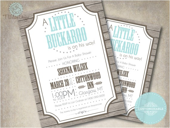 printable little buckaroo baby shower