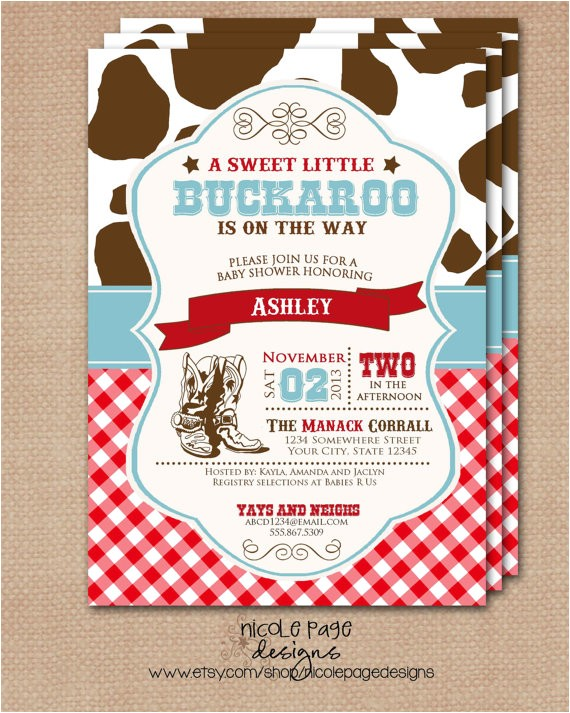 little cowboy or buckaroo baby shower