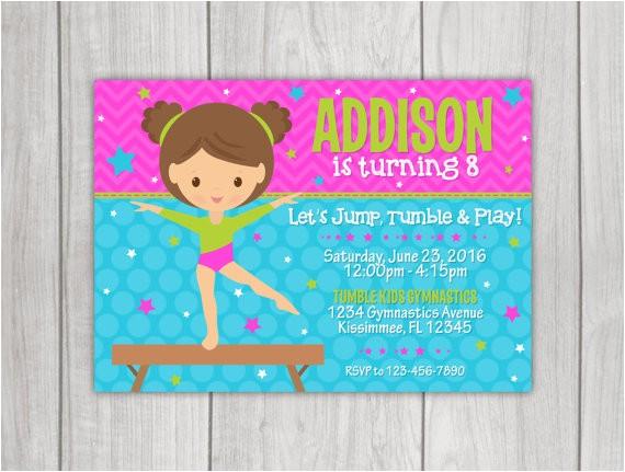gymnastics birthday invitation 4