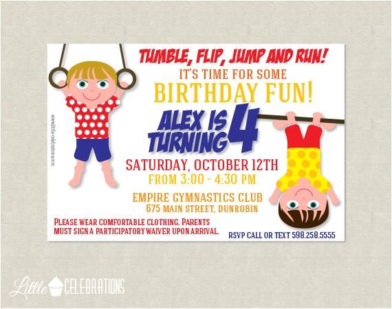 printable gymnastics birthday party
