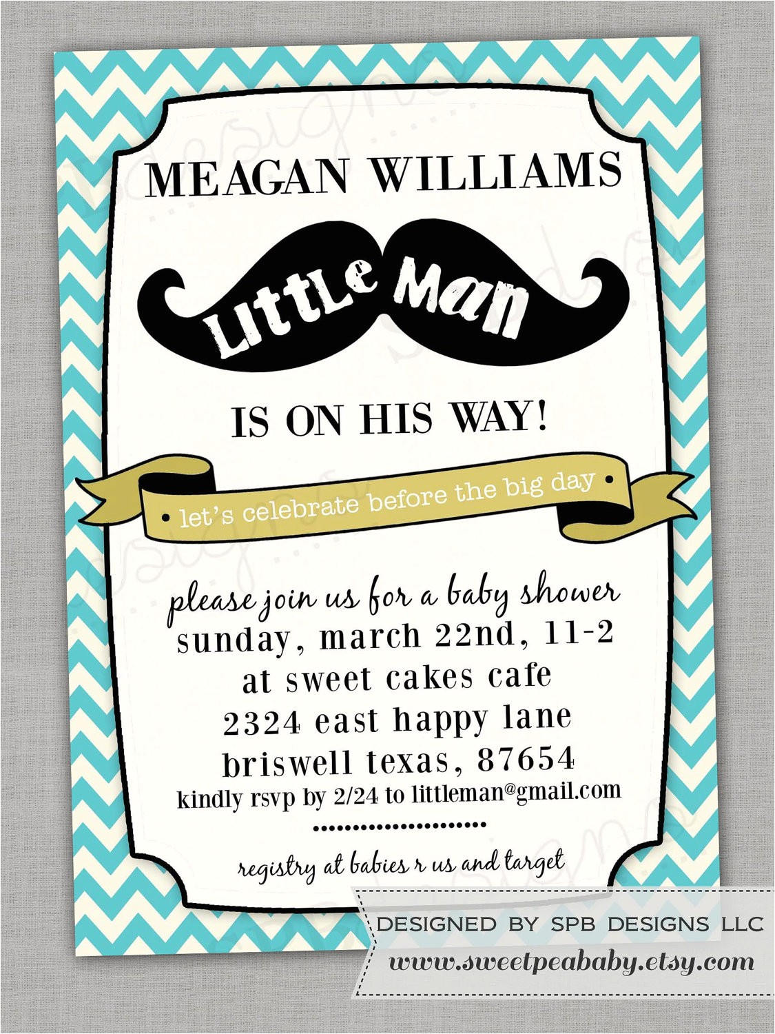 little man baby shower invitation templates