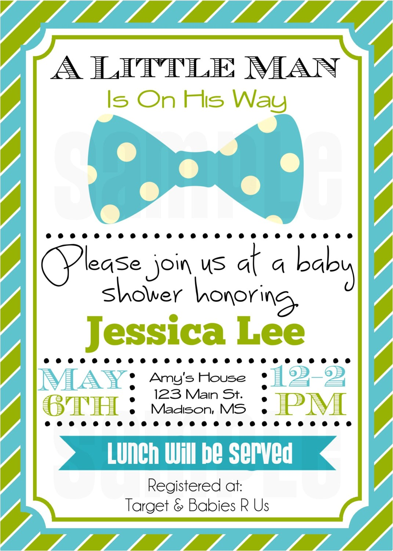 little man baby shower invitation baby