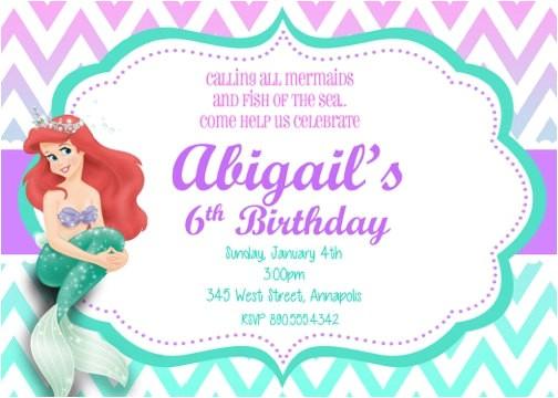 little mermaid invitations templates